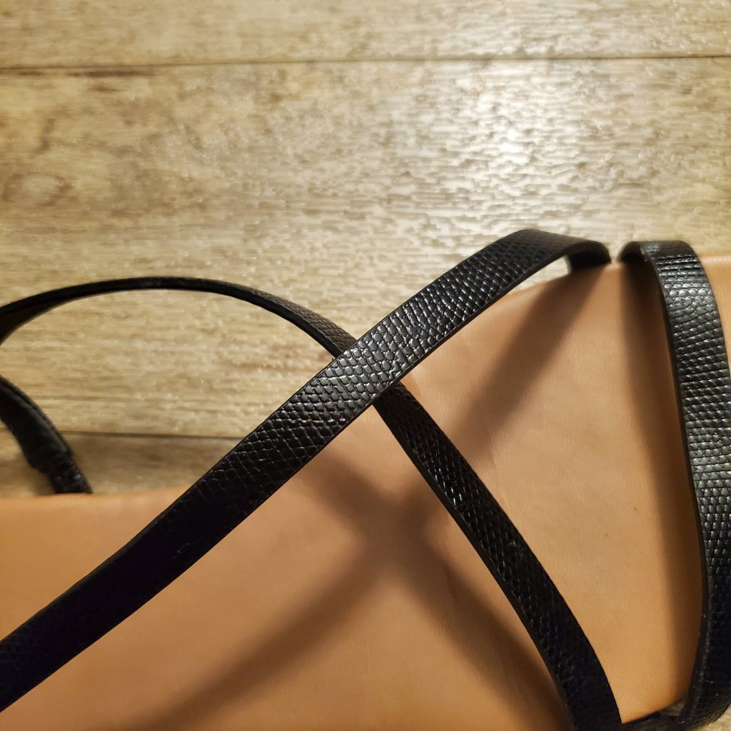 Black snakeskin sandals Aidensblog