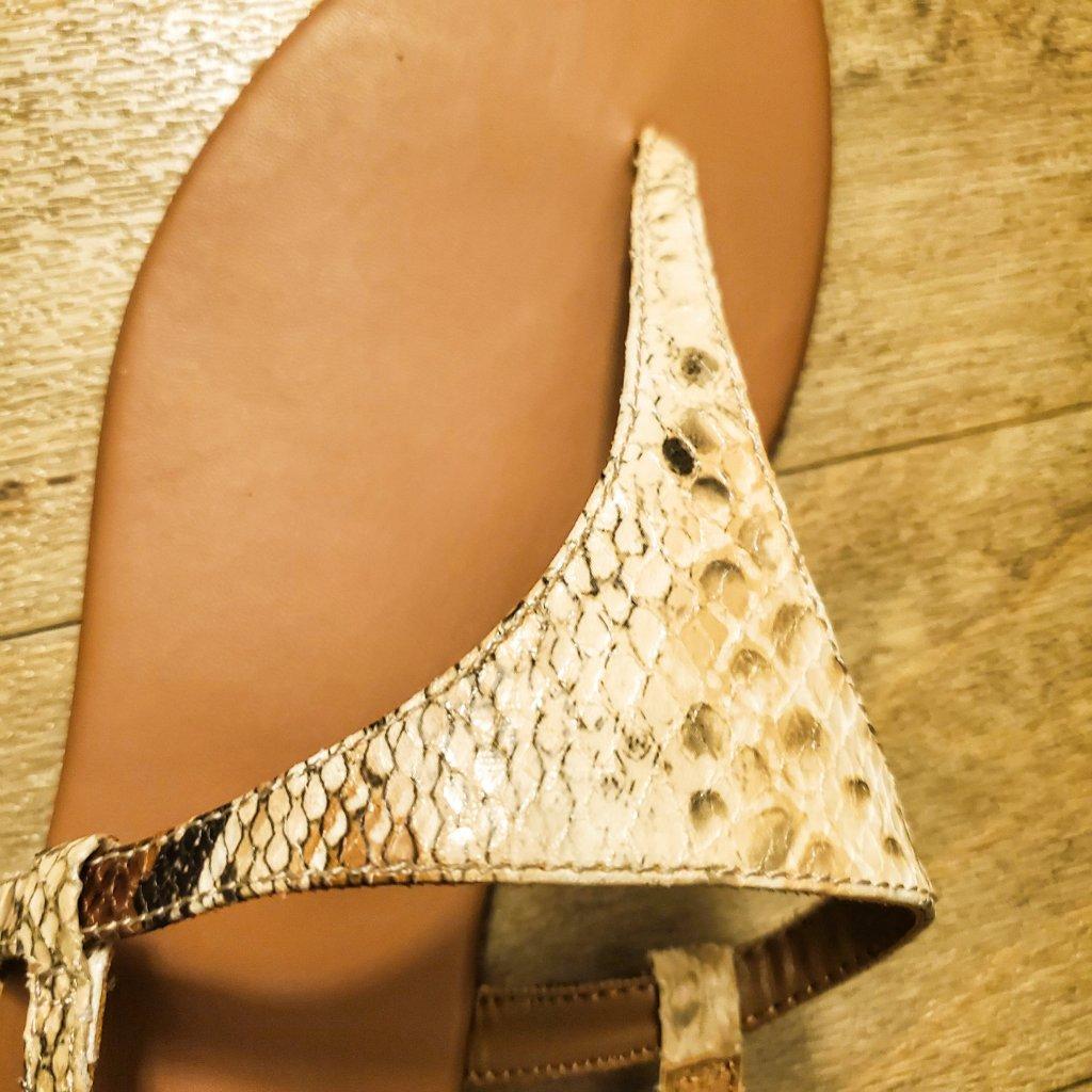 Beige snakeskin sandals Aidensblog