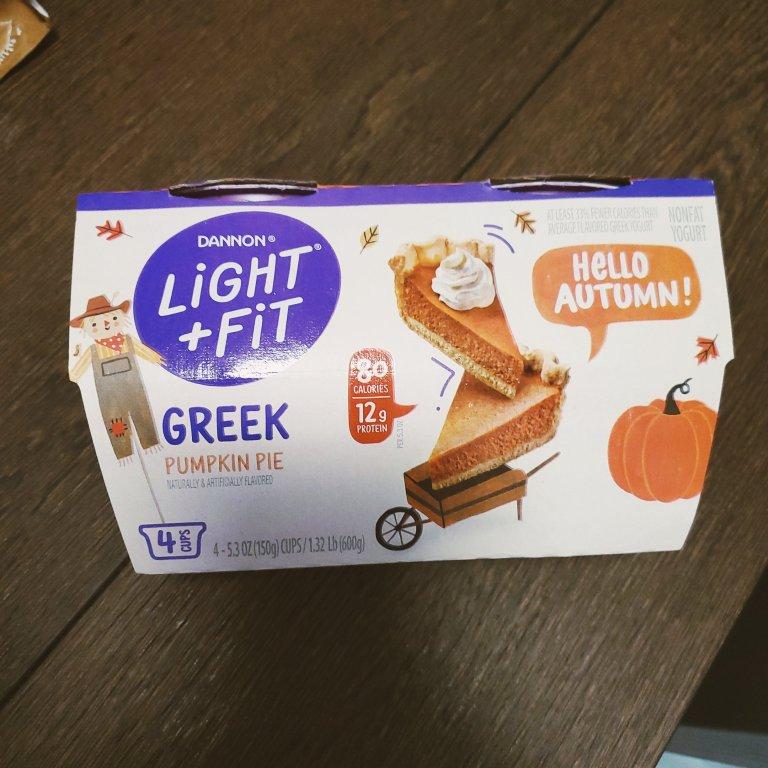 Light and Fit Pumpkin Pie Greek Yogurt
